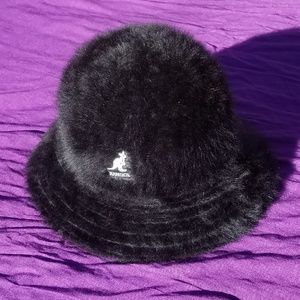 Kangol Lola Furgora Black Angora Bucket Hat Regula
